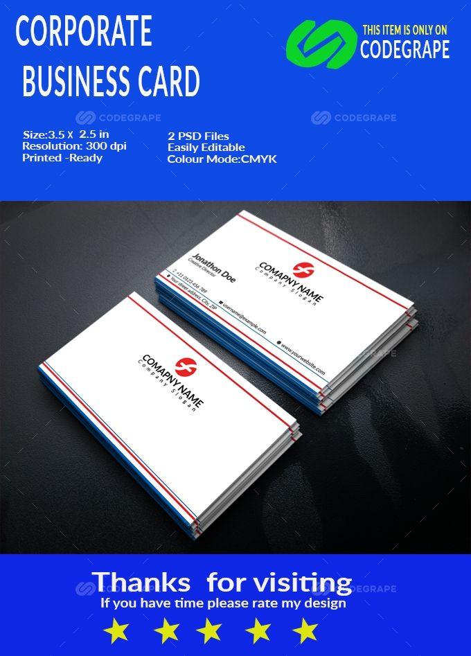 Corporate Business Card Corporate Business Business Cards