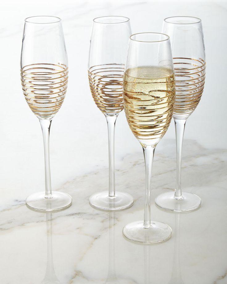 champagne flutes with raised design set of 4 trending good as gold pinterest design set. Black Bedroom Furniture Sets. Home Design Ideas