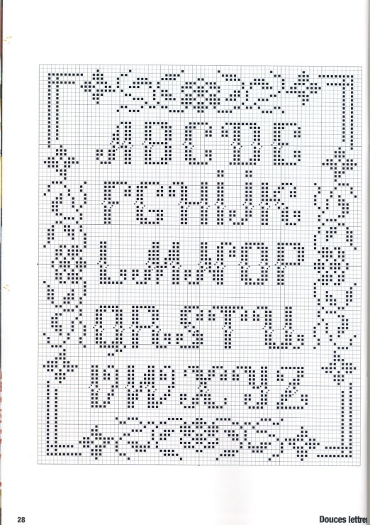 Favorit 500 best Alphabets 1/5 - Broderie point de croix - Cross stitch  XE09