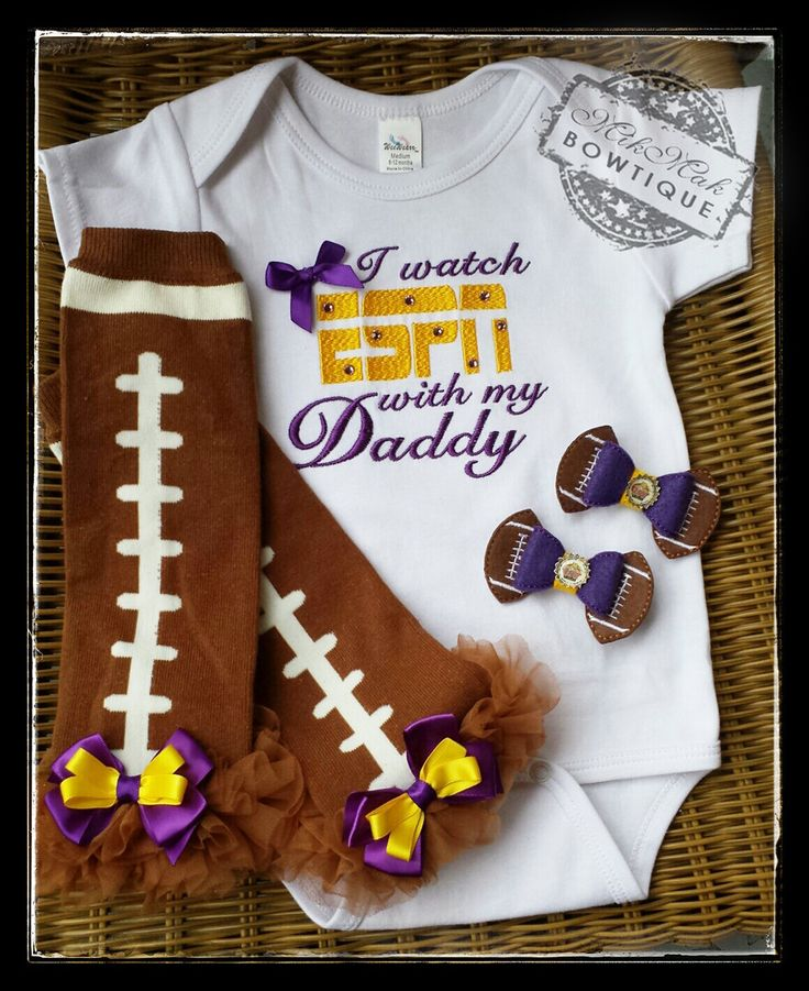I Watch ESPN with my Daddy, Football, Fathers Day, NFL, Baseball, Hockey, Soccer, Tennis, Basketball, College, Baby Shower Gift, Sports Fan - pinned by pin4etsy.com