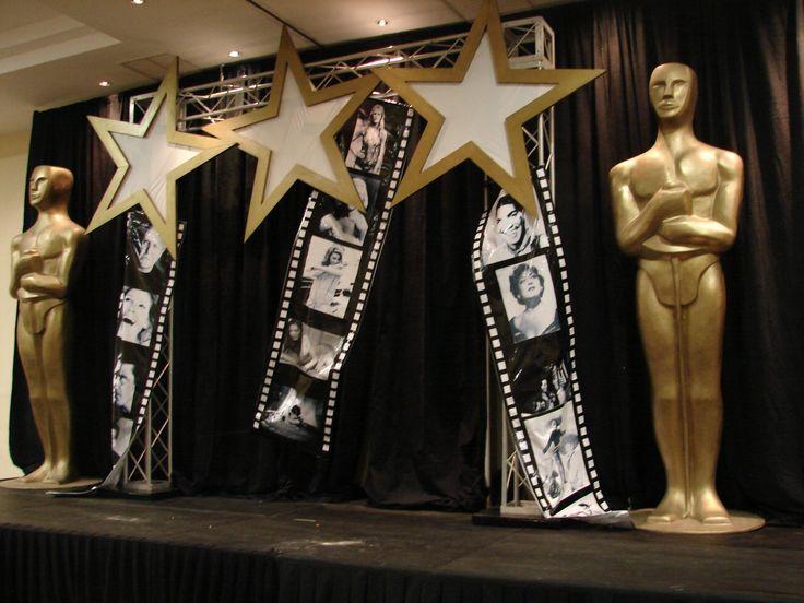 hollywood theme centerpieces | Fiestas Temas