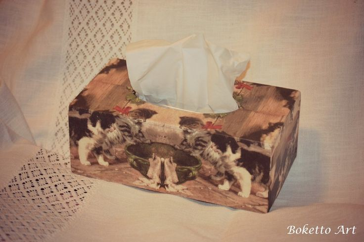 Napkins box with cats 1