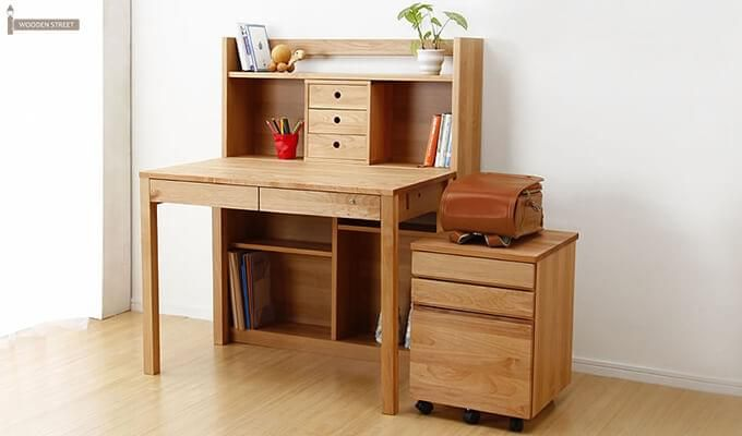 Frodo Study Table Cum Shelf (Natural Finish)-1