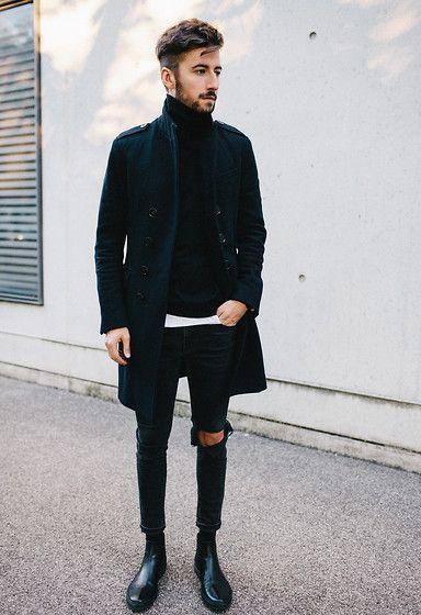 2015-10-17のファッションスナップ。着用アイテム・キーワードは30代, コート, サイドゴアブーツ, ニット・セーター, ブーツ, 黒パンツ,etc. 理想の着こなし・コーディネートがきっとここに。| No:129053
