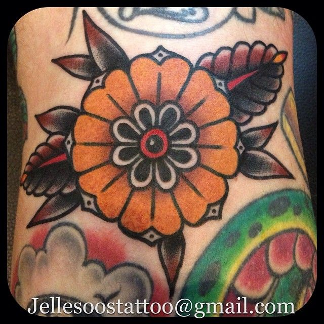 Love the colour scheme! By Jelle Soos. #neotraditional