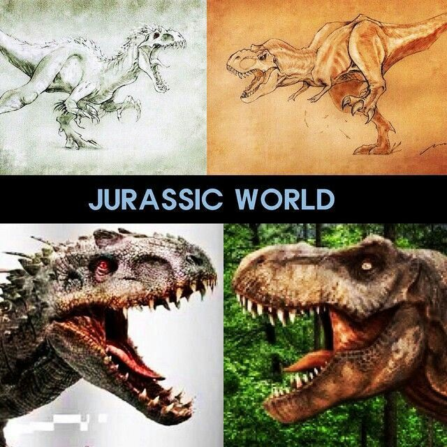 Tyrannosaurus Rex Dinosaur vs. Indominus Rex Dinosaur