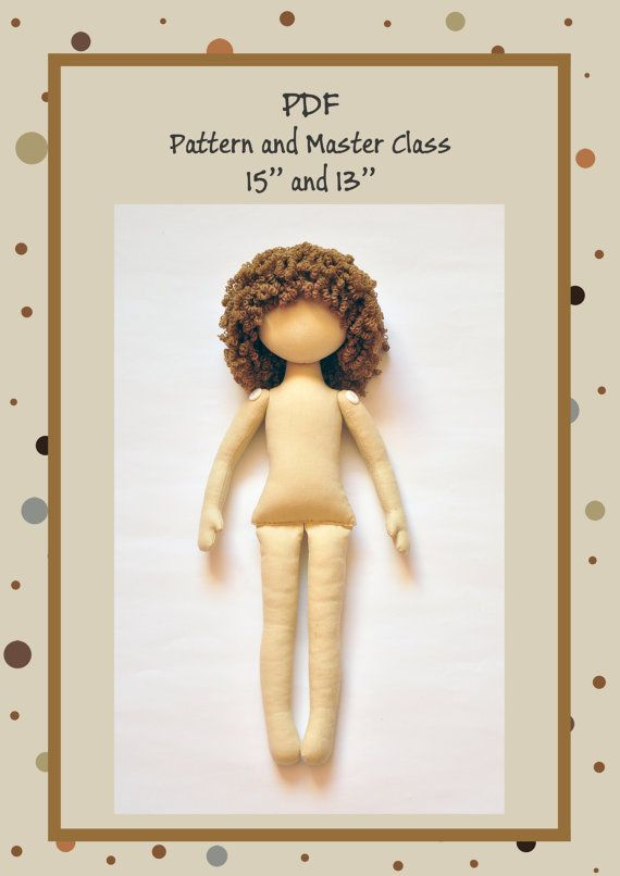 PDF Anna Doll Cloth Doll PatternPDF Sewing by NilaDolss on Etsy