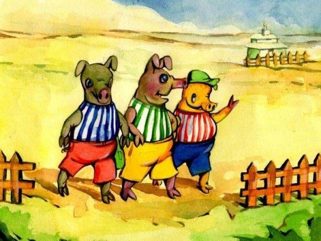 Magnetsaga: Tre små grisar