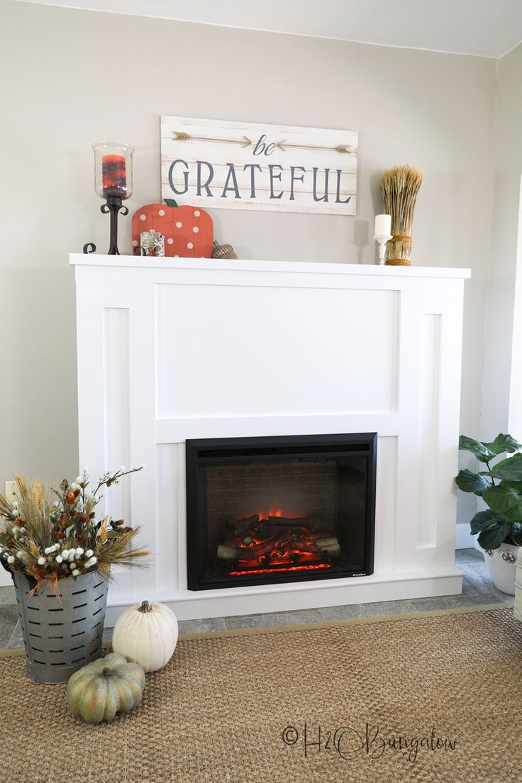 How To Build a DIY Fireplace With Electric Insert Faux