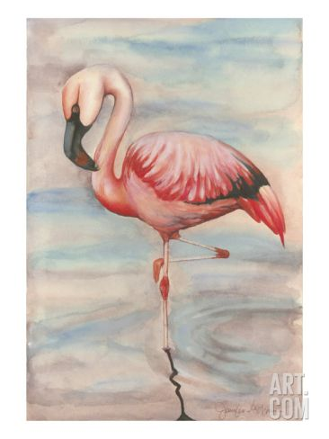Pink Flamingo II Premium Giclee Print