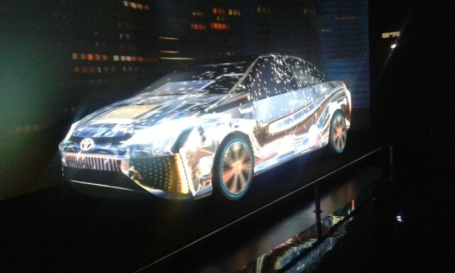 Video Mapping Toyota FCV Concept