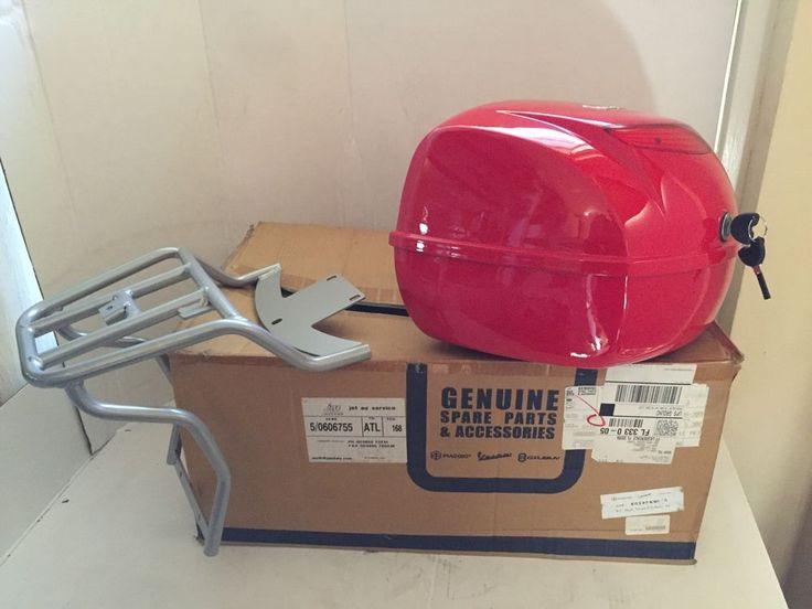 Genuine Piaggio Vespa PX 150 Top Case With Rack NEW In The Box  | eBay
