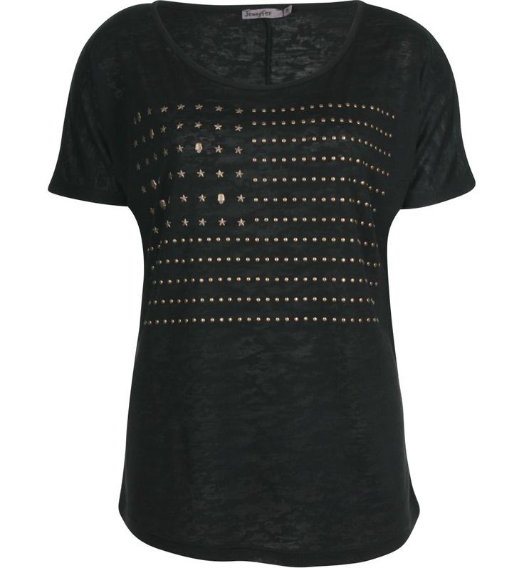 T-shirt noir drapeau américain