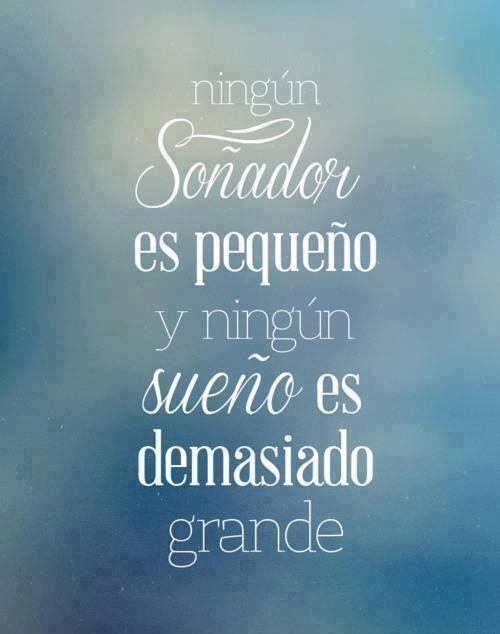 """""""Ningún soñador es pequeño y ningún sueño es demasiado grande."""" #Citas #Frases @Candidman"""