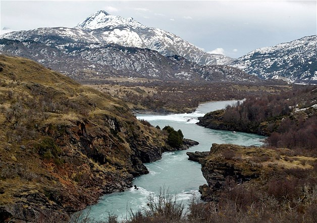 Rio Baker near the town of Cochrane in Chilean Patagonia