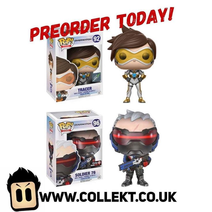 Two #overwatch big hitting #funkopops now available for #preorder at Collekt.co.uk - grab these #exclusives before they're gone! #funko #funkouk #collekt #popvinyl #originalfunko #tracer #solider76 #funkopopuk #funkopopsuk #funkopops #gaming #gamers #games #overwatchgame  #nerd #geek