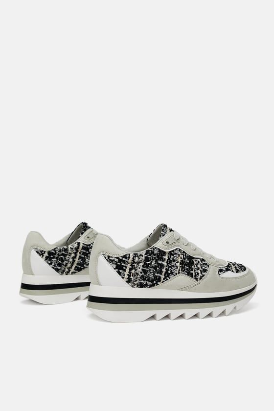 e416727f2cf TWEED SNEAKERS from Zara