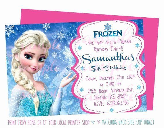 Frozen Birthday Invitation Wording Fresh 19 Best Frozen Invitations Images On Pinter Frozen Birthday Invitations Frozen Birthday Printable Birthday Invitations