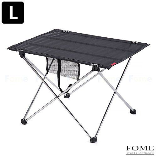 Camping TablesFOME SPORTSOUTDOORS Aluminum Ultralight Folding Table Outdoor Adjustable Folding Table Portable Picnic Camping Fishing Hiking Garden Foldable Picnic Tables One Year Warranty * More info could be found at the image url.