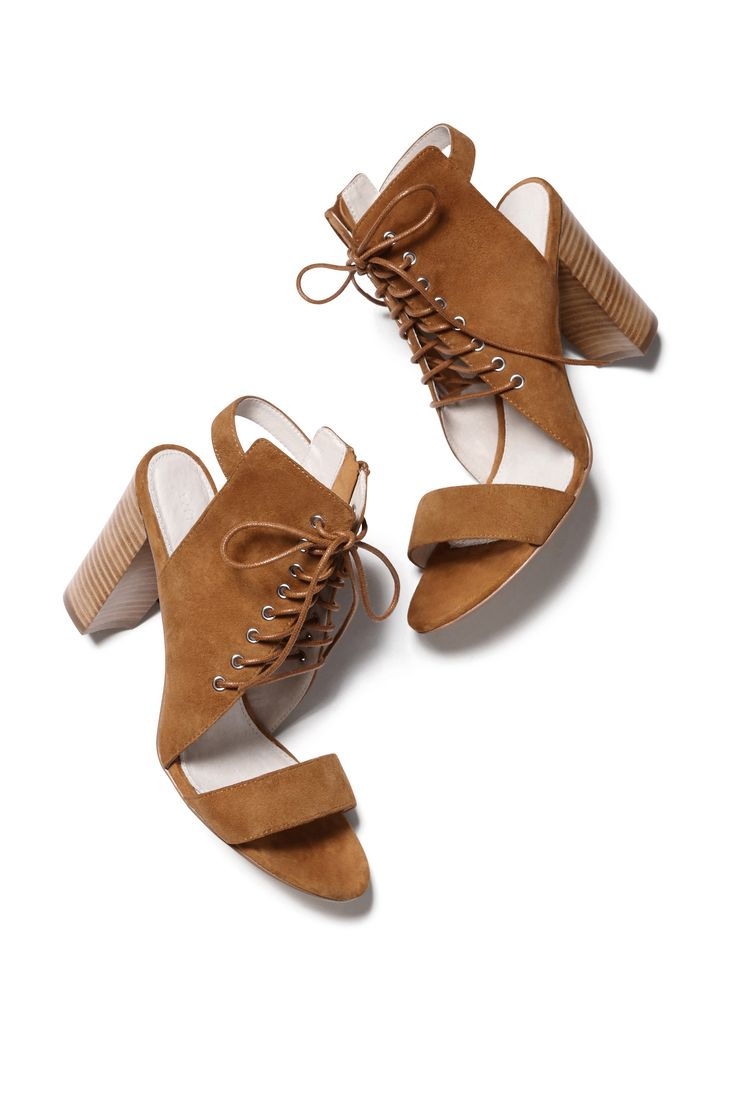 Lace Up Block Heel   Witchery SS15