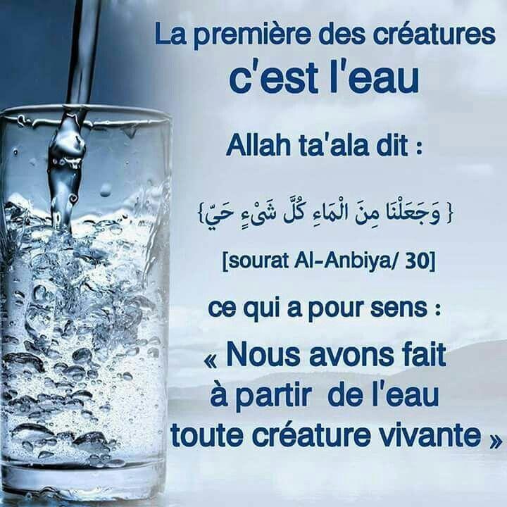 L'eau : première créature d Allah ta3ala.