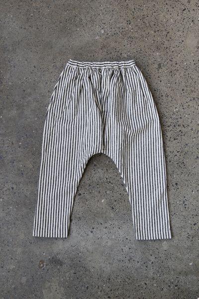 Ichi Striped Linen Cotton Pants