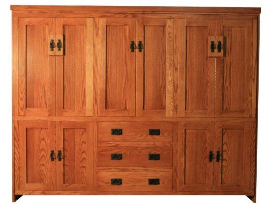 Mission style murphy bed plans woodworking projects plans for Craftsman bed
