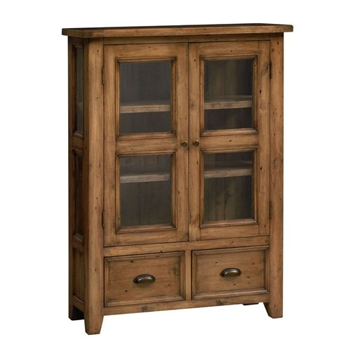 Woburn Reclaimed Pine Small Display Cabinet including free delivery (581.017) | Pine Solutions - G2232
