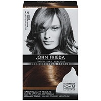 John Frieda Foam Hair Color:  Hate coloring my hair - hate the smell, hate the dripping.  This product has changed my outlook on home hair color.  It's easy to apply by yourself, covers well, smells good, and there is plenty in the bottle to cover the longest hair.  As a bonus, my hair didn't feel like straw when I rinsed out the color.  Two enthusiastic thumbs up!