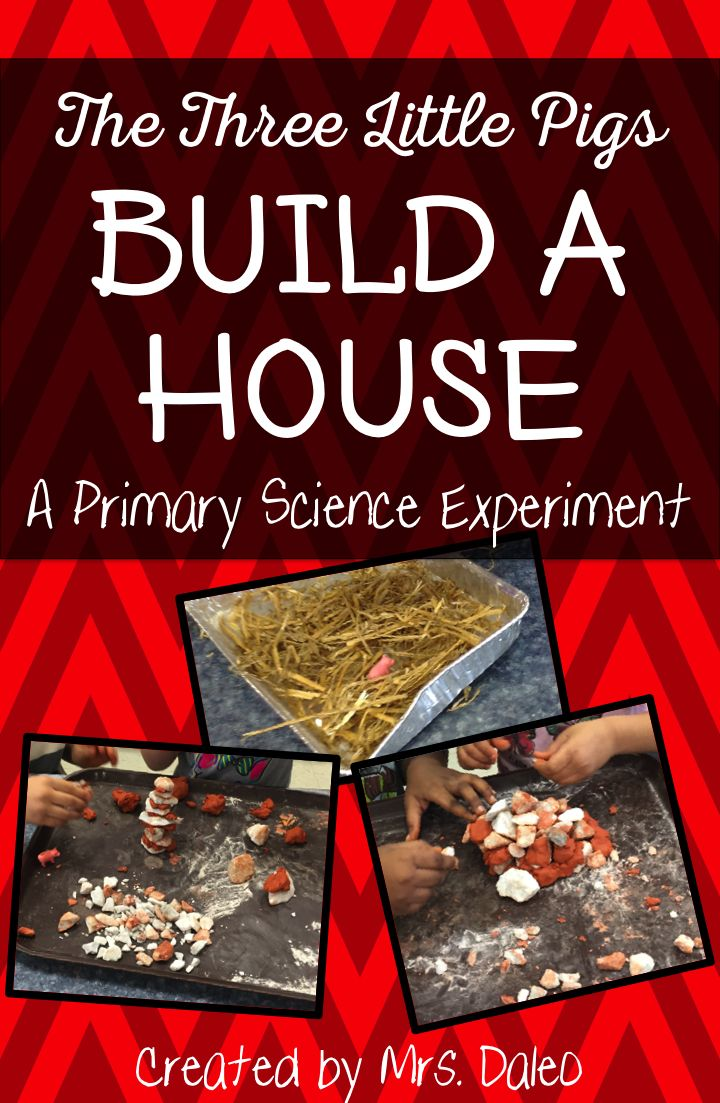 Kindergarten STEM: The Three Little Pigs Build A House A Primary Science Experiment