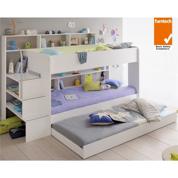 Parisot Bibop French Made Single Bunk Bed with Trundle