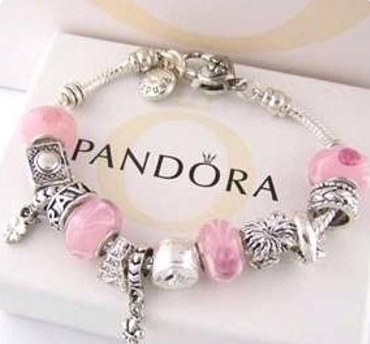Pink Bead bracelet · Pandora Charm