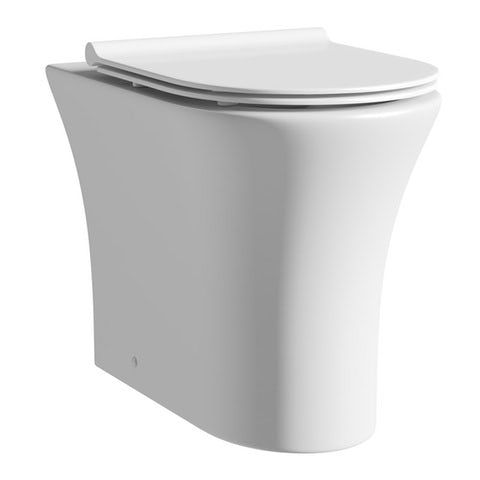 Mode Hardy Rimless Back To Wall Toilet With Slimline Soft