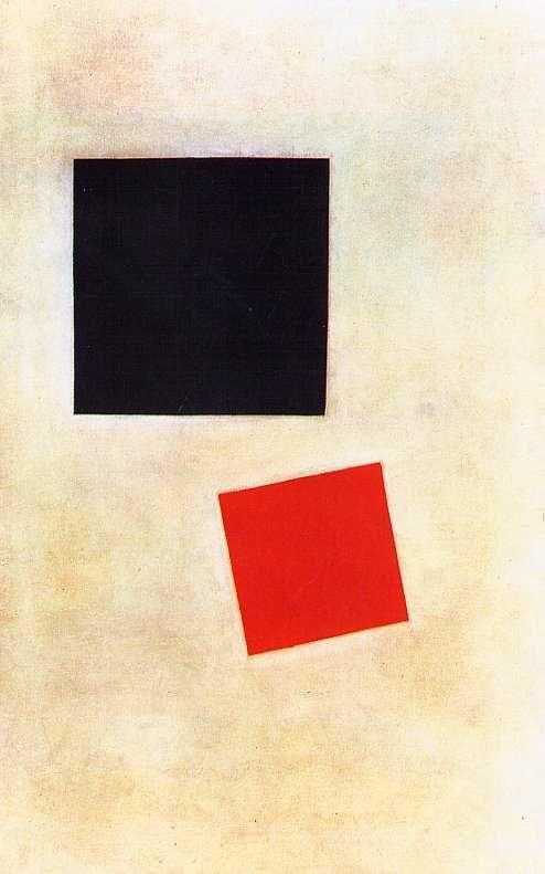 Kazimir Malevitch - Carré noir et carré rouge, 1915