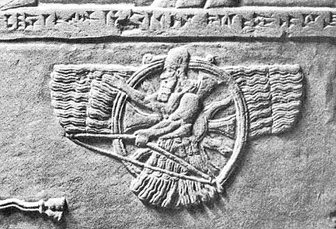 E.A. appeared before the Sumerians as the Aryan god Ahura had appeared when seen in his glowing ark on top of Mount Hara, the mountain of Is-Tara, as a being of light.