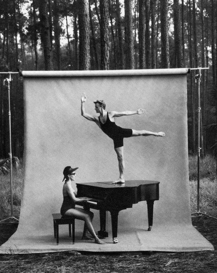Annie Leibovitz - Mikhail Baryshnikov on a piano. :) (One of the prints in Cal's office.)
