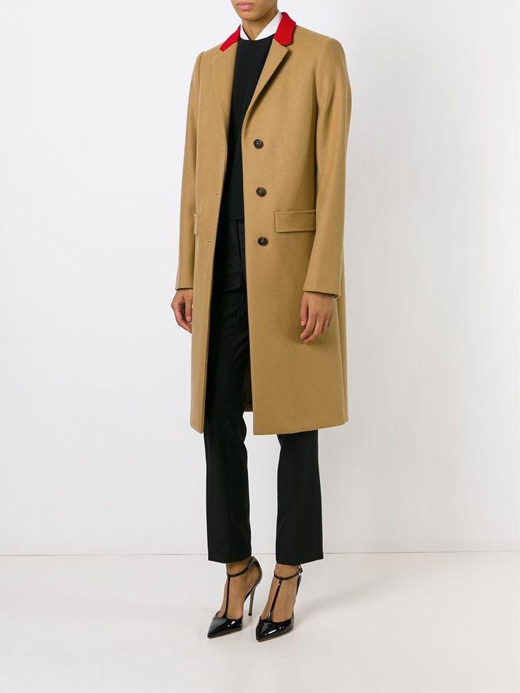 Givenchy Contrast Collar Overcoat - Pompeu Baqueira - Farfetch.com