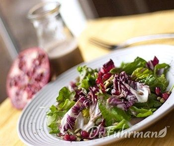 Pomegranate Winter Salad with Figs and Pumpkin Seeds. Online Library | Healthy and Delicious Recipes | DrFuhrman.com