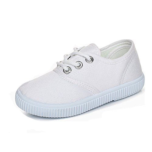 eef823104c74 YING LAN Kids Boy s Girl s Canvas Sneakers Classic Lace-Up Tennis Shoes ( Toddler