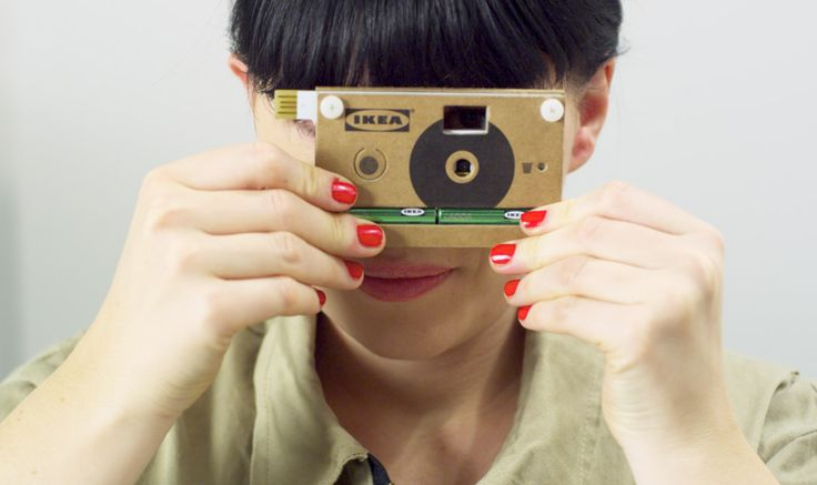 Ikea's Knappa, a cardboard cameraFunctional Training, Cardboard Digital, Cardboard Cameras, Work Out, Digital Cameras, Ikea Cameras, One Piece, Retrato-Port Digital, Tech Gadgets