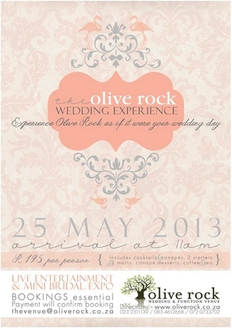 Olive Rock Wedding Experience - Date: 25 May 2013 {2013 Cape Town Bridal and Wedding Expos | Confetti Daydreams}