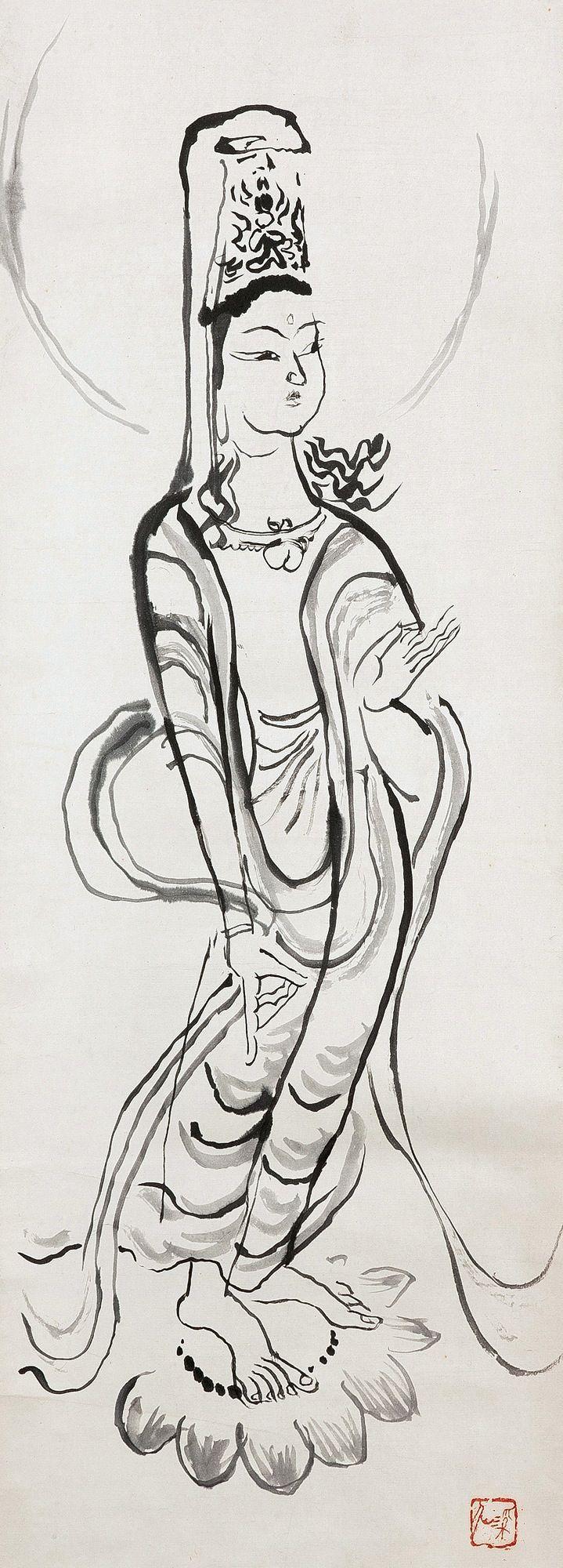 Tomita Keisen 富田渓仙 (1879-1936), Bodhisattva.