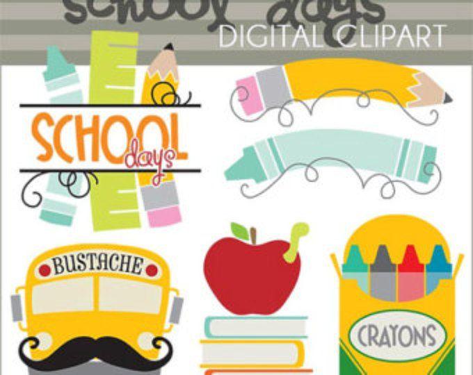 Al Clipart de escuela-Personal y limitada comercial uso - días escolares Imágenes Prediseñadas, lápices de colores, lápiz, bustache, aula Clip Art