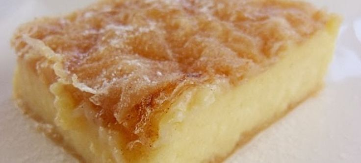 #Galatopita is a traditional Greek milk #pie #recipe that you have to try. Check out this delicious recipe!