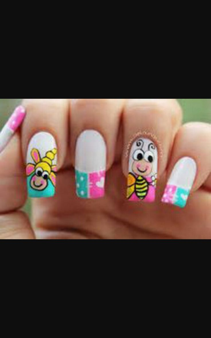 diseño lindo de uñas el cual tu puedes lucir,mas en época de verano..
