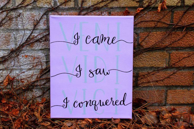VENI, VIDI, VICI -- I came, I saw, I conquered