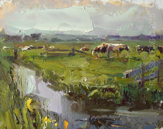 New Blog Post: http://rosepleinair.com/morning-impression-and-cows
