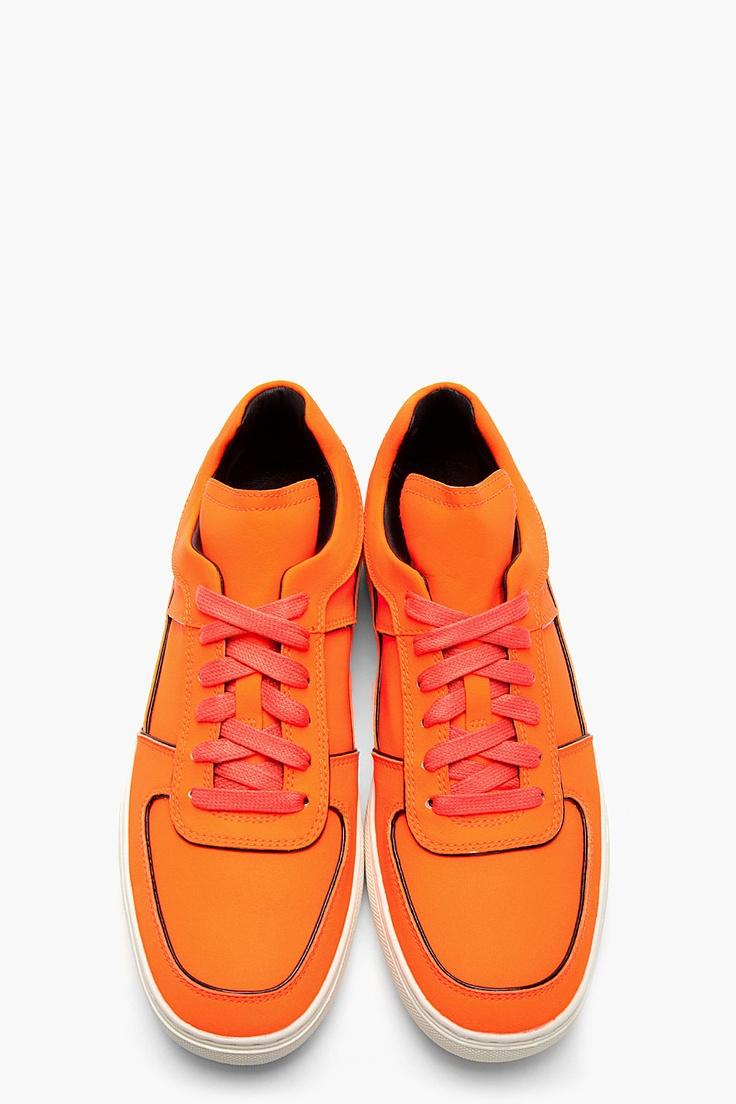 ALEJANDRO INGELMO Fluorescent Orange Toby Reflex Sneakers
