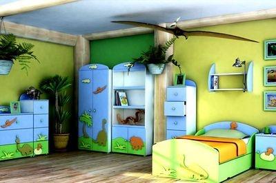 DINOSAUR KIDS BEDROOM FURNITURE-STARTER SET