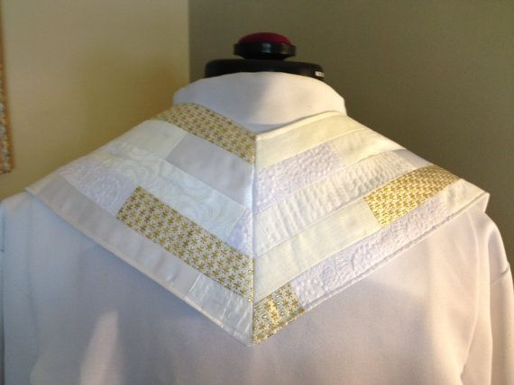 White/Christmas/Easter/Baptism Clergy Stole by SageTextiles